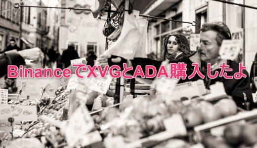 Binance(バイナンス)でXVG(VERGE)とADAの購入方法@仮想通貨