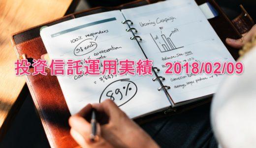 投資信託@運用実績報告 2018/02/08