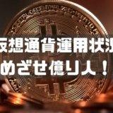 仮想通貨運用状況 めざせ億り人!