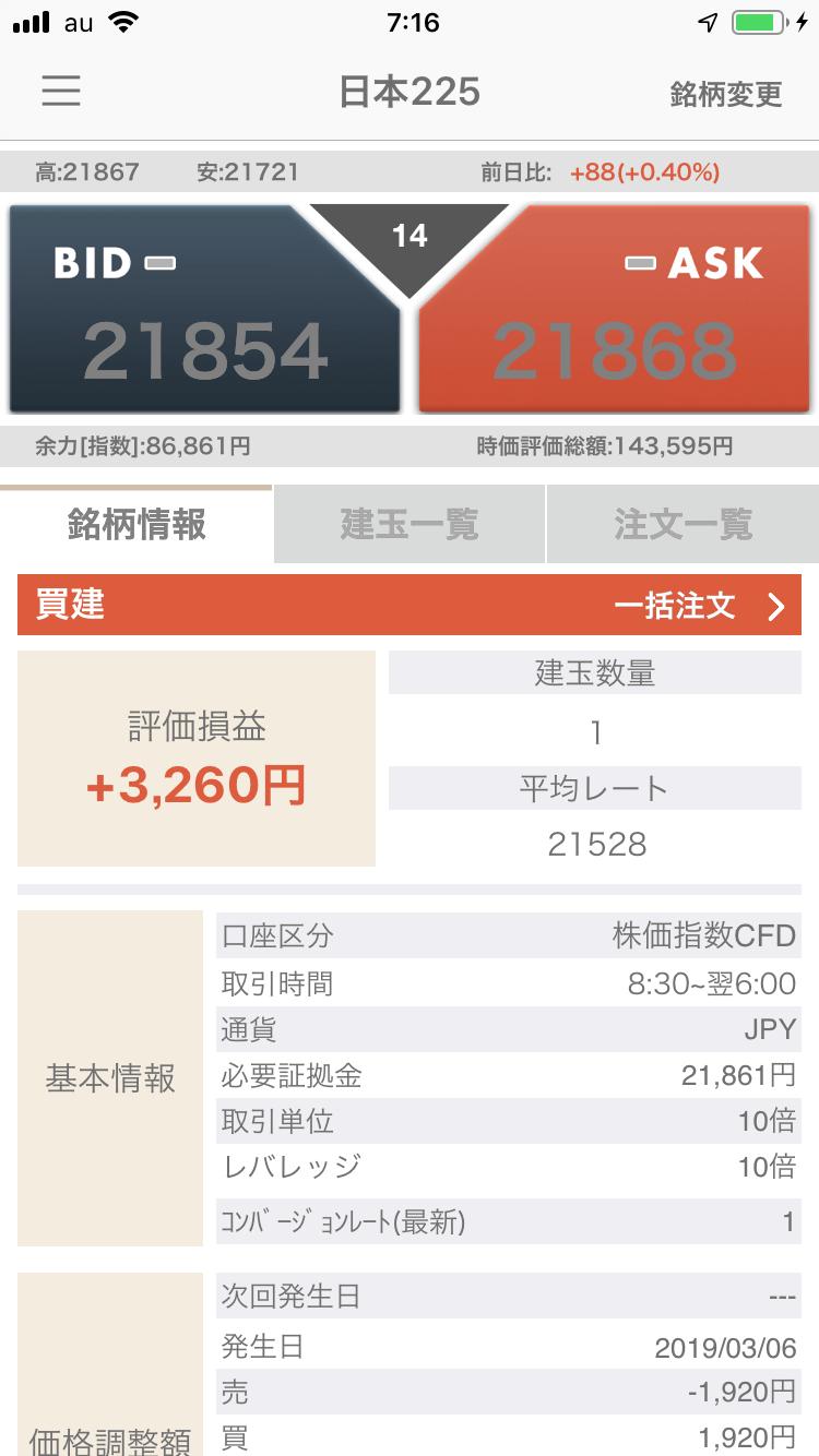 日本225ポジション