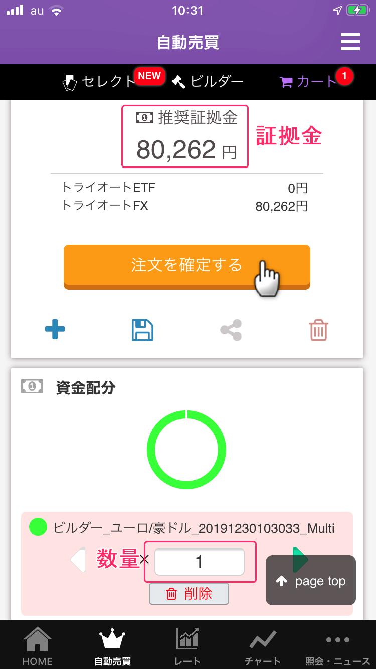 ユーロ豪ドルビルダ注文画面3