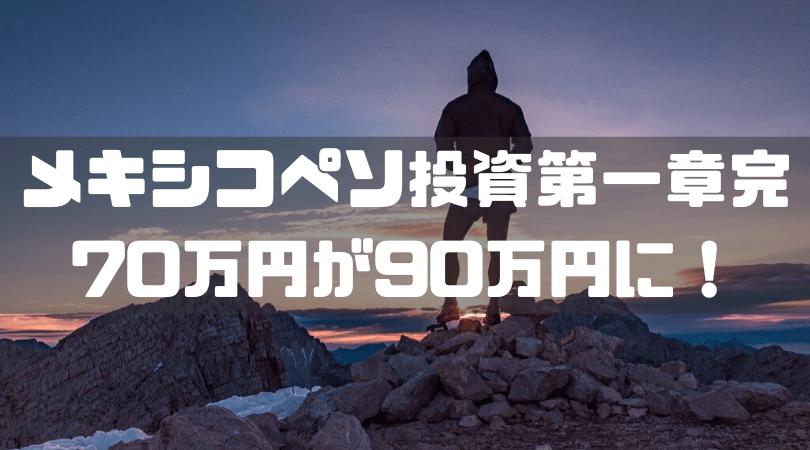 メキシコペソ投資第一章完70万円が90万円に!