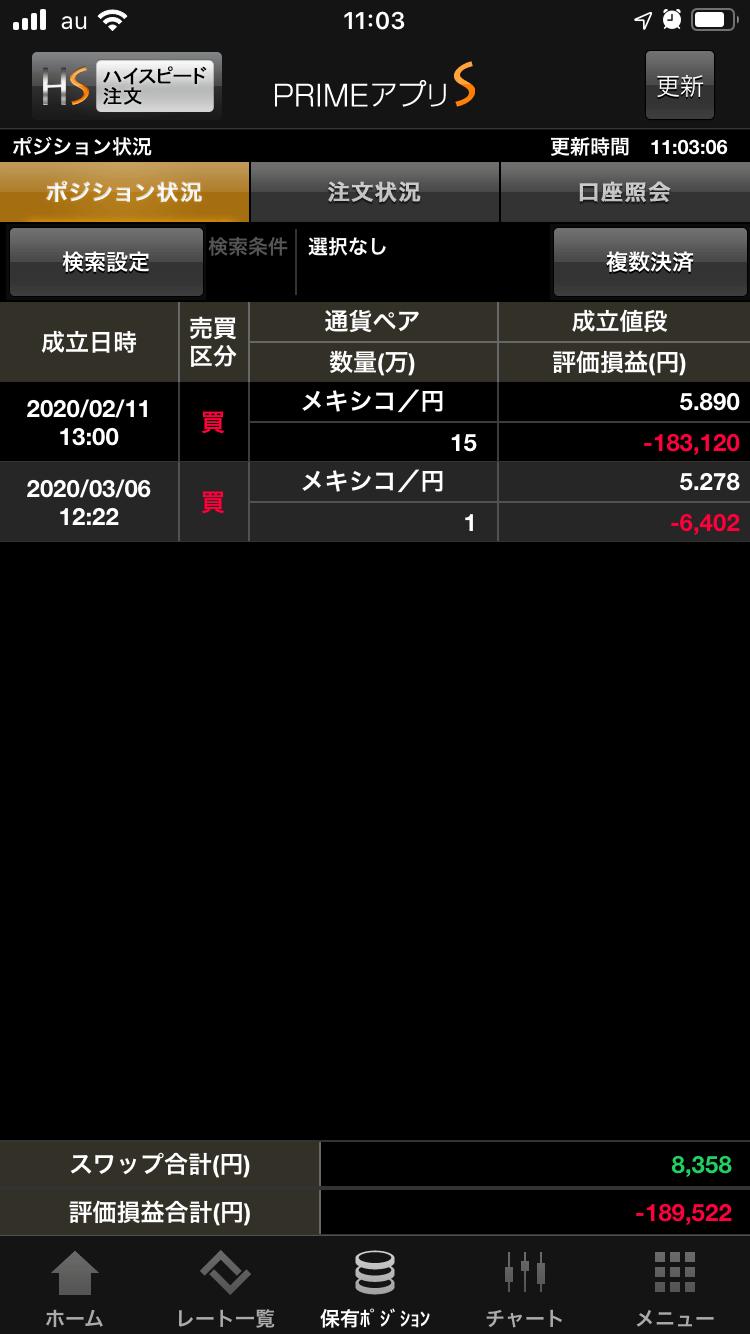 FXプライムポジション
