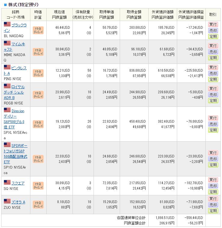SBI証券の米国株